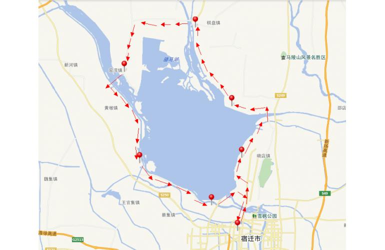 2013宿迁骑自行车环骆马湖活动路线发布